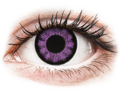 ColourVUE BigEyes Ultra Violet - plano (2 lenses)