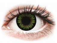 Coloured contact lenses - ColourVUE BigEyes Party Green - plano (2 lenses)