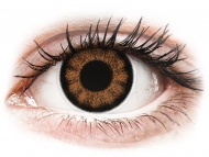 Coloured contact lenses - ColourVUE BigEyes Sexy Brown - plano (2 lenses)