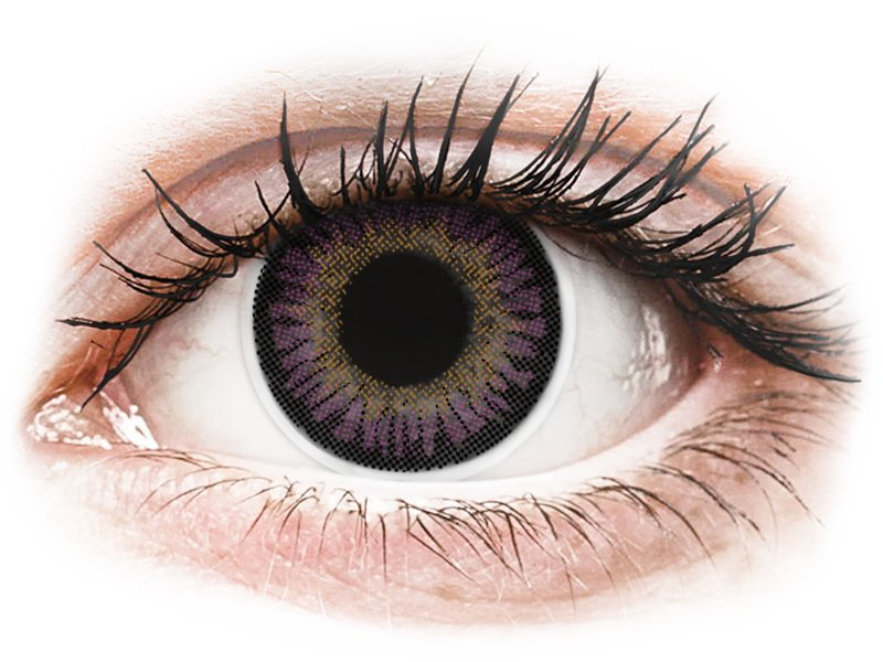 ColourVUE 3 Tones Violet - plano (2 lenses)