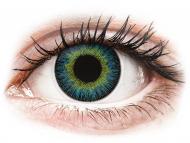Blue contact lenses - non dioptric - ColourVUE Fusion Yellow Blue - plano (2lenses)