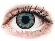 Blue contact lenses - non dioptric - ColourVUE Fusion Blue Gray - plano (2lenses)