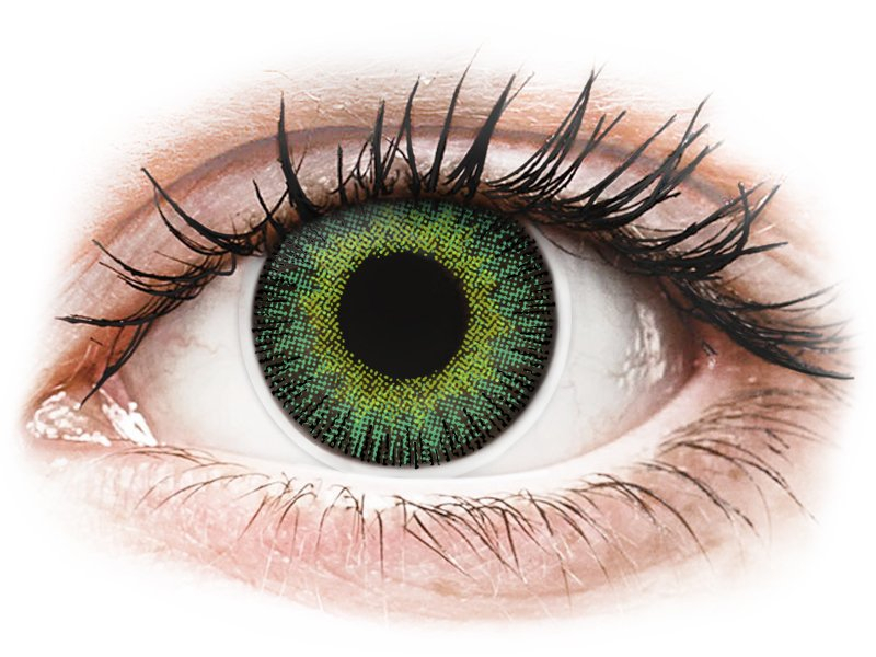 ColourVUE Fusion Green Yellow - plano (2lenses)
