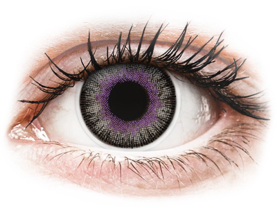 ColourVUE Fusion Violet Gray - plano (2 lenses)