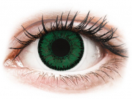 Green contact lenses - dioptric - SofLens Natural Colors Aquamarine - power (2lenses)