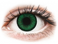 Green contact lenses - non dioptric - SofLens Natural Colors Emerald - plano (2 lenses)
