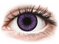 Purple contact lenses - dioptric - SofLens Natural Colors Indigo - power (2 lenses)