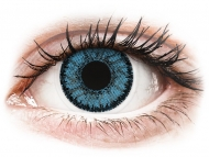 Blue contact lenses - non dioptric - SofLens Natural Colors Pacific - plano (2lenses)