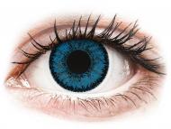 Blue contact lenses - non dioptric - SofLens Natural Colors Topaz - plano (2lenses)