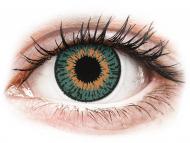 Orange contact lenses - non dioptric - Expressions Colors Aqua - plano (1 lens)