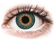 Orange contact lenses - dioptric - Expressions Colors Aqua - power (1 lens)