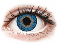 Blue contact lenses - non dioptric - Expressions Colors Dark Blue - plano (1 lens)
