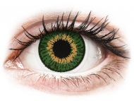 Orange contact lenses - dioptric - Expressions Colors Green - power (1 lens)