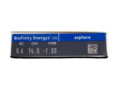Biofinity Energys (3 lenses) - Attributes preview