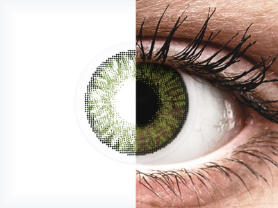 FreshLook ColorBlends Green - power (2lenses)