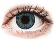 Blue contact lenses - dioptric - FreshLook ColorBlends True Sapphire - power (2 lenses)