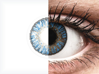 FreshLook ColorBlends True Sapphire - power (2 lenses)
