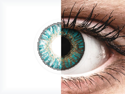 FreshLook ColorBlends Turquoise - power (2lenses)