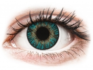 Blue contact lenses - non dioptric - FreshLook ColorBlends Turquoise - plano (2lenses)