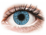 Blue contact lenses - dioptric - FreshLook Colors Sapphire Blue - power (2 lenses)
