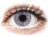 Purple contact lenses - dioptric - FreshLook Colors Violet - power (2 lenses)