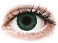 Green contact lenses - non dioptric - FreshLook Dimensions Carribean Aqua - plano (2lenses)