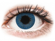 Blue contact lenses - non dioptric - FreshLook Dimensions Pacific Blue - plano (2lenses)