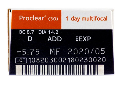 Proclear 1 Day Multifocal (30lenses) - Attributes preview