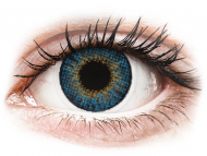 Blue contact lenses - dioptric - Air Optix Colors - True Sapphire - power (2 lenses)