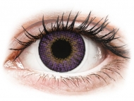 Purple contact lenses - non dioptric - Air Optix Colors - Amethyst - plano (2 lenses)