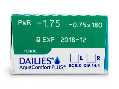 Dailies AquaComfort Plus Toric (30lenses) - Attributes preview