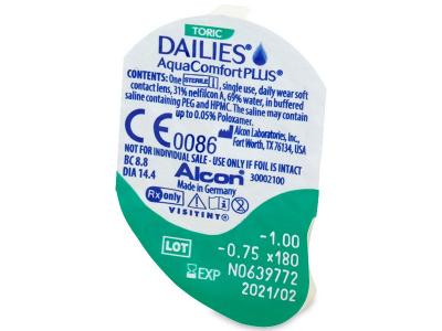 Dailies AquaComfort Plus Toric (90lenses) - Blister pack preview