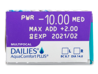Dailies AquaComfort Plus Multifocal (30lenses) - Attributes preview