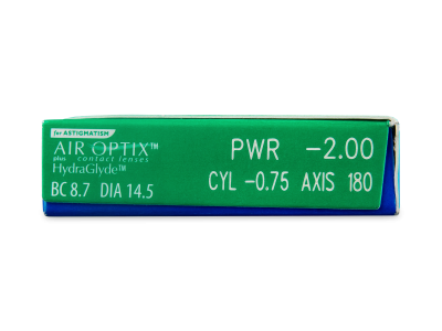 Air Optix plus HydraGlyde for Astigmatism (3 lenses) - Attributes preview