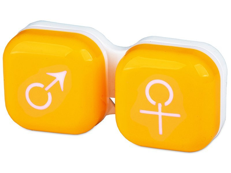Lens Case man & woman - yellow
