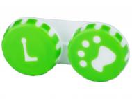 Contact Lens Case - Lens Case Paw green