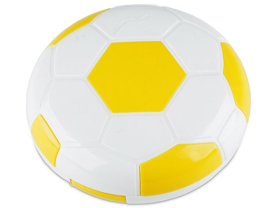 Lens Case with mirror Football - yellow