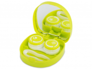 Contact Lens Case with Mirror - Lens Case with mirror Smile - green
