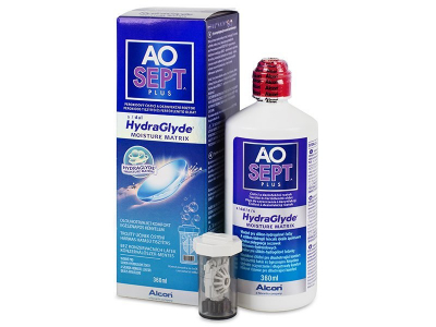 Cleaning solution - AO SEPT PLUS HydraGlyde Solution 360 ml