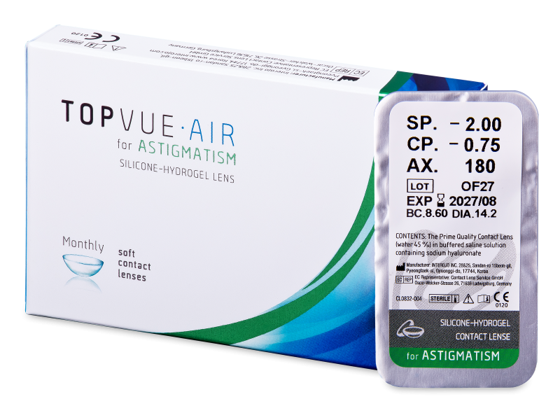 TopVue Air for Astigmatism (1lens) - Toric contact lenses
