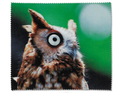 Glasses cleaning cloth - Owl