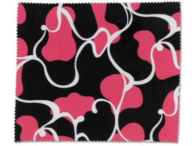 Glasses cleaning cloth - pink and black