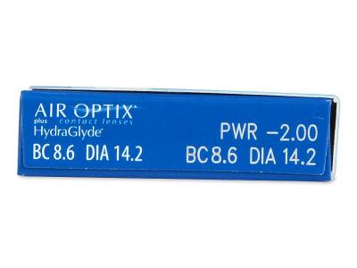 Attributes preview - Air Optix plus HydraGlyde (6 lenses)
