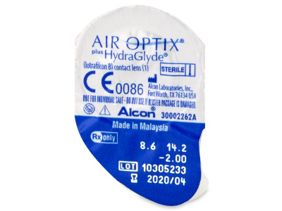 Blister pack preview - Air Optix plus HydraGlyde (6 lenses)