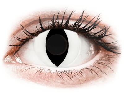CRAZY LENS - Cat Eye White - daily plano (2 lenses)