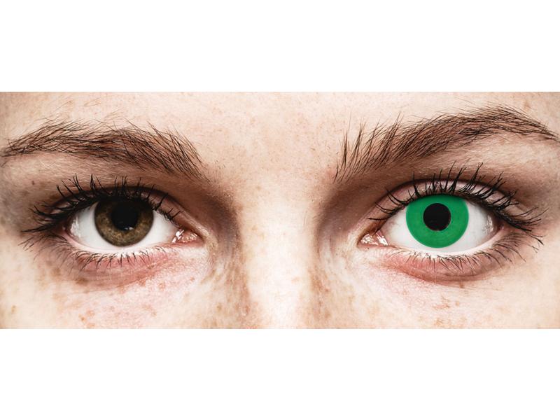 CRAZY LENS - Emerald Green - daily plano (2 lenses)