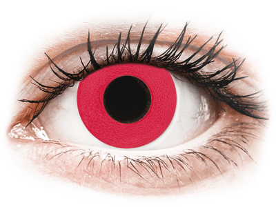 CRAZY LENS - Solid Red - daily plano (2 lenses)