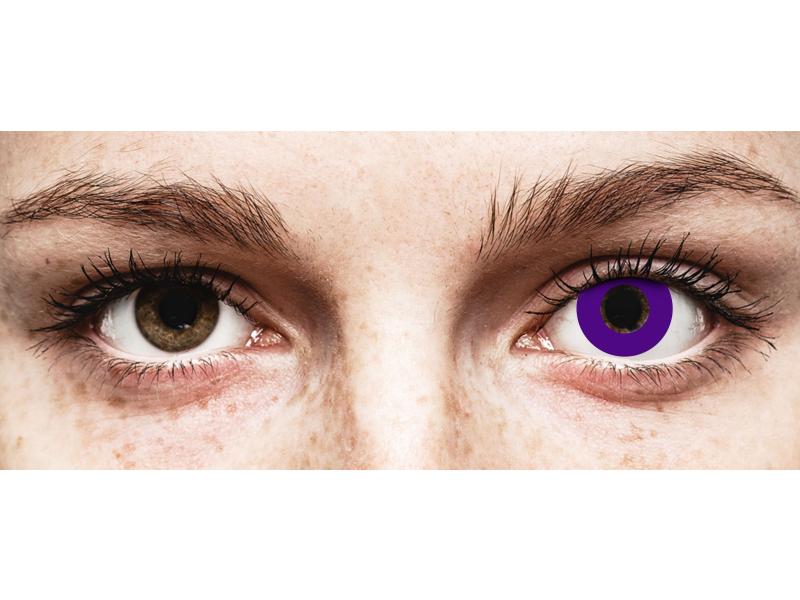 CRAZY LENS - Solid Violet - daily plano (2 lenses)