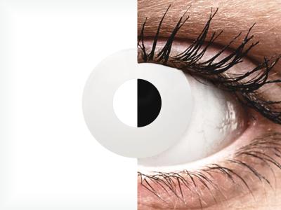 CRAZY LENS - WhiteOut - daily plano (2 lenses)
