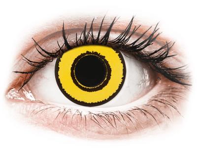 CRAZY LENS - Yellow Twilight - daily plano (2 lenses)